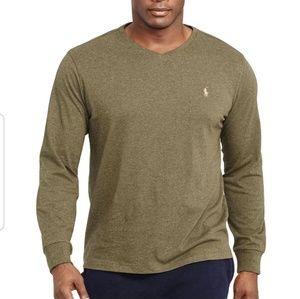 Polo Ralph Lauren V-neck long sleeve cotton shirt